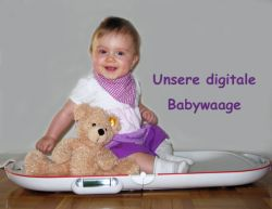 Unsere digitale Babywaage
